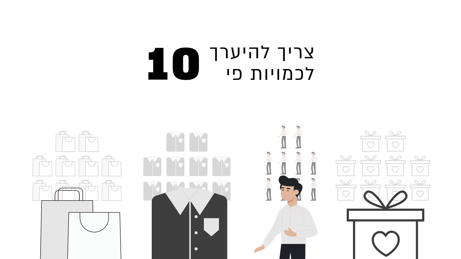 הערכות כמויות פי 10